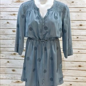 Anthropologie 3/4 Slv Chambray Dress - M